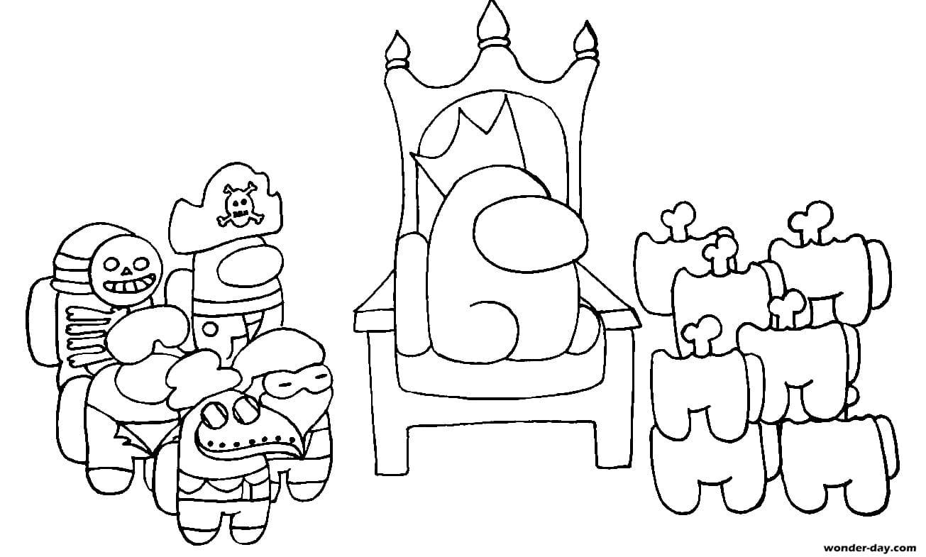 Раскраска Король на троне